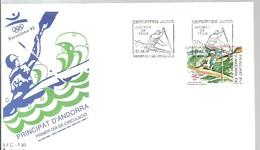 FDC ANDORRA ESP.1992 - Rafting