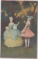 Personnages En Costume / Galant Et Sa Belle / 17e Ou 18e - Pintura & Cuadros