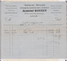 8/67 Lettre Facture HOUZET LILLE FLANELLE ALPAGAS CACHEMIRES / 1896 - France