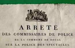 D-FR Révolution 1796 Affiche DOUAI Arrêté Des Commissaires De Police - Documents Historiques