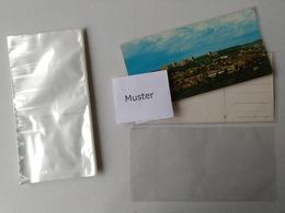 100 Ansichtskarten Schutzhüllen Für Panoramakarten 110x220x0,04mm - Matériel