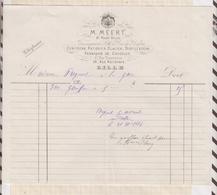 8/71 Lettre Facture GUEPRATTE PARIS PORCELAINES FAIENCES CRISTAUX / 1898 - France