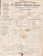 1877 - TOULOUSE - DISTILLERIE - Fabrique De Liqueurs - ABSINTHE .. Vve DAVID & MERENS Frères - Documents Historiques