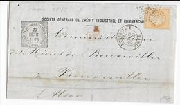 1873 - SIEGE - LETTRE De PARIS => BOUXWILLER (ALSACE ALLEMANDE) - Marcophilie (Lettres)