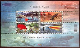Canada 2005 Fishing Flies Minisheet MNH - Poissons