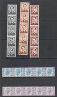 Belgie Rolzegels / Coil Stamps 5 Stroken Van 5 (1 Zegel Nummer Op Achterzijde) ** Mnh (39365) - Rouleaux