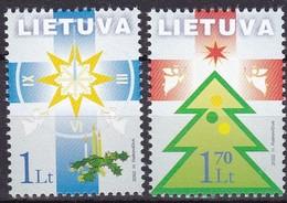 Litauen, 2002, 804/05,  Weihnachts- Und Neujahrsgrußmarken. MNH ** - Litouwen