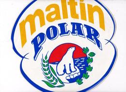 Rare Publicité Carton Souple Maltin Polar, Boisson Sans Alcool à Base De Malt, Empresas Polar, Vénézuela, Années 1980 - Alcohols