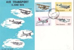 New Zealand 1974 Air Transport FDC - FDC