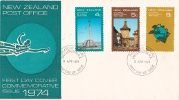 New Zealand 1974 Commemorative FDC - Napier Centenary, Universal Postal Union - FDC