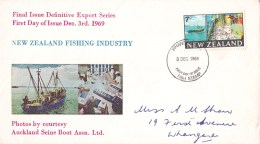 New Zealand 1969 Fishing FDC - FDC