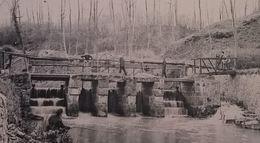 Roisin Le Pont De L'usine Au Marbre Animée Avec Pêcheurs - Honnelles