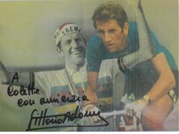 Carte Postale Vittorio  ADORNI - Dédicace - Hand Signed - Autographe Authentique - - Cyclisme