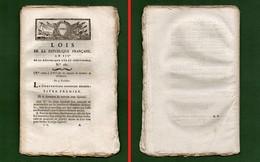D-FR Révolution 1795 Loi Sur Les Moyens De Terminer La Révolution RARE - Documents Historiques