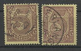 Deutsches Reich Dienst 33 A, C Gest., Gepr. Infla - Servizio