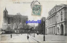Le Mans - Théatre Et Cathédrale - 1907 - Le Mans