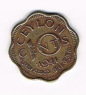 &   SRI  LANKA ( CEYLON ) 10 CENTS  1944 - Sri Lanka