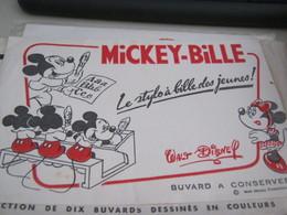 BUVARD PUBBLICITARIA MICKEY -BILLE - Stationeries (flat Articles)