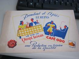 BUVARD PUBBLICITARIA LE VIN DU VIEUX LOGIS - Liquor & Beer