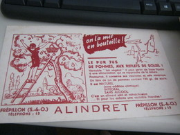 BUVARD PUBBLICITARIA ALINDRET - Buvards, Protège-cahiers Illustrés