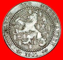 # RAMPANT LION: NETHERLANDS ★ 1 CENT 1901 KONINGRIJK! LOW START ★ NO RESERVE! Wilhelmina (1890-1948) - [ 3] 1815-… : Kingdom Of The Netherlands