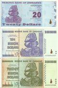 3 Banknotes From Zimbabwe - UNC - Very Good PricesSee Photos - Zimbabwe