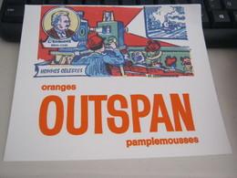 BUVARD PUBBLICITARIA OUTSPAN ORANGES - Limonadas - Refrescos