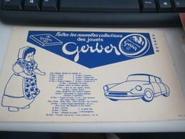 BUVARD PUBBLICITARIA GERBER - Automobile