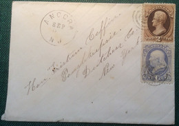 """USA """"ANCORA N.J"""" ~ 1873-78 VERY RARE POSTMARK Of New Jersey (Winslow, Camden County) / Cover Bank Note Postal History US - 1847-99 Algemene Uitgaves"""