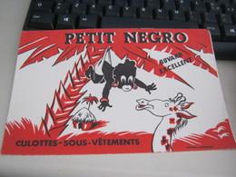 BUVARD PUBBLICITARIA PETIT NEGRO - Textile & Clothing