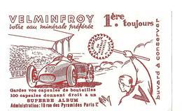 Buvard VELMINFROY / Eau Minérale /  70 Haute Saône / Voiture De Course - Blotters