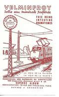 Buvard VELMINFROY / Eau Minérale /  70 Haute Saône / Train - Buvards, Protège-cahiers Illustrés