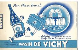 Buvard Bassin De Vichy / Eaux Et Pastilles Vasque Bleue - Blotters