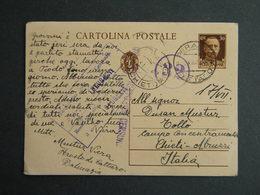 WW2 - ITALY OCCUPATION OF MONTENEGRO 1942- -PERASTO - CATTARO - TOOLO CHIETI- CENSURA - 9. WW II Occupation (Italian)