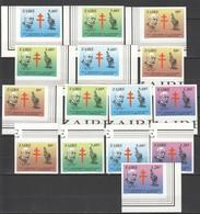 K118 !!! IMPERFORATE 1983 ZAIRE SCIENCE MEDICINE DOCTOR ROBERT KOCH TUBERCULOSE 3SET+3ST MNH - Célébrités