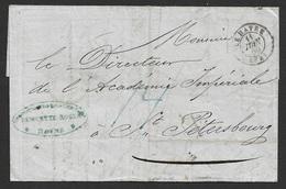 1853 LAC France Le Havre  A St. Petersburg, Russe - Academie Impériale Des Sciences - France