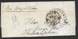 1860 LAC Transatlantique France A Philadelphia, Etats Unis - Via Angleterre - Marcophilie (Lettres)