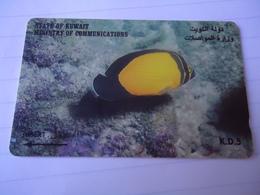 KUWAIT USED CARDS FISH FISHES - Kuwait