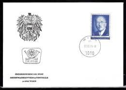 Austria A43 FDC 1973 1v Fritz Pregl Chemist Doctor Nobel Prize In Chemist - FDC