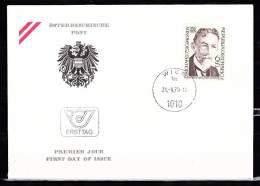 Austria C05 FDC 1979 1v Nobel Laureates - FDC