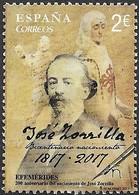 S232 Jose Zorrilla  2017  Used-oblit. - 1931-Today: 2nd Rep - ... Juan Carlos I