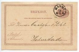 Sweden 1883 6o. Crowns Postal Card Malmö To Halmstad - Postal Stationery