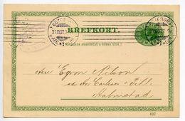 Sweden 1907 5o. Crowns Postal Card Göteborg To Halmstad - Postal Stationery
