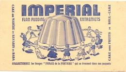 Buvard Vloeipapier - Flan Pudding Imperial - Sucreries & Gâteaux