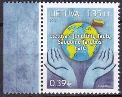Litauen, 2014, 1165, Mitglied Im Sicherheitsrat Der Vereinten Nationen 2014-2015.  MNH ** - Lithuania