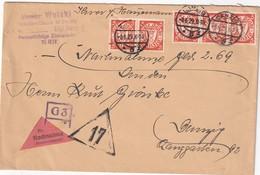 DANZIG 1929 LETTRE EN CONTRE REMBOURSEMENT DE  DANZIG - Dantzig