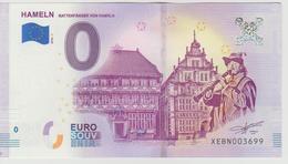 Billet Touristique 0 Euro Souvenir Allemagne Hamelin 2018-1 N°XEBN003698 - Private Proofs / Unofficial
