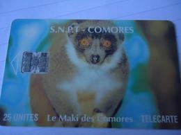 COMOROS COMORES USED CARDS ANIMALS - Comoros