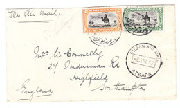 Sudan Atbara AIRMAIL COVER TO Great Britain 1932 - Sudan (...-1951)