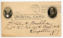 United States 1902 UX18 Postal Card Bristol Rhode Island Doremus Machine Cancel - Interi Postali